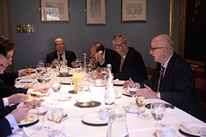 """""""Now what?"""" Post-Commons vote dinner.."""